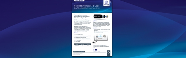 Garland External Cat 6 Cables -Page Header