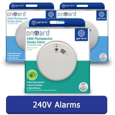 onGard 2models 240V Smoke Alarms